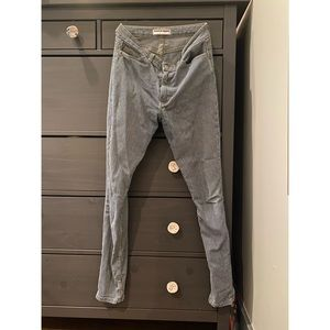 American Apparel High Waisted Union Stripe Jeans